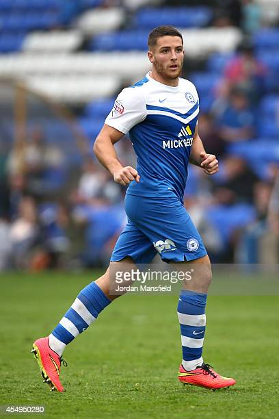 Conor Washington in action during the Sky Bet League One match between Peterborough United and Port Vale at London Road Stadium on September 6 2014...