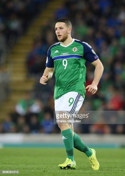 Conor Washington of Northern Ireland during the FIFA 2018 World Cup Qualifier between Northern Ireland and Norway at Windsor Park on March 26 2017 in...