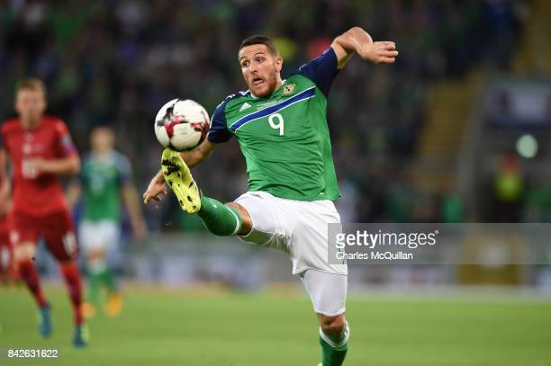 Conor Washington of Northern Ireland during the FIFA 2018 World Cup Qualifier between Northern Ireland and Czech Republic at Windsor Park on...