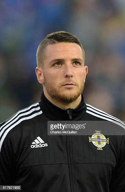 Conor Washington of Northern Ireland during the international friendly between Northern Ireland and Slovenia at Windsor Park on March 28 2016 in...