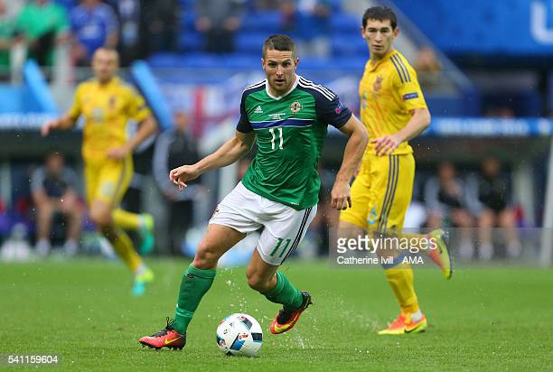 Conor Washington of Northern Ireland during the UEFA EURO 2016 Group C match between Ukraine and Northern Ireland at Stade des Lumieres on June 16...