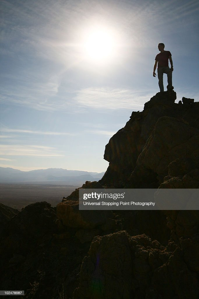 Conquering Death (Valley) : Stock Photo