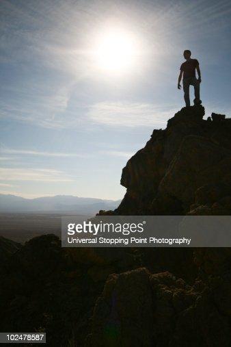 Conquering Death (Valley) : Stock Photo