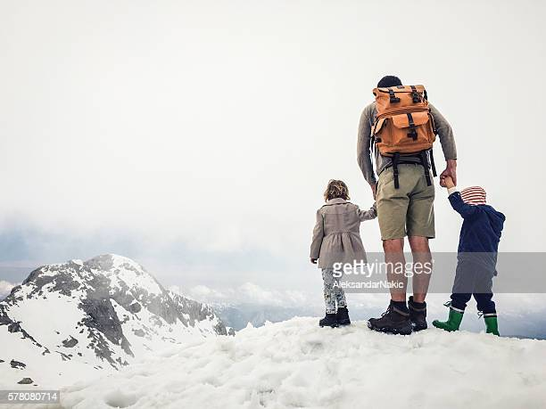 Conquering the Alps with our dad