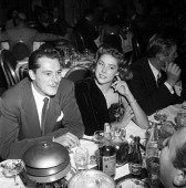Conrad Hilton Jr with Betsy von Furstenberg at dinner at the Cocoanut Grove in Los Angeles California