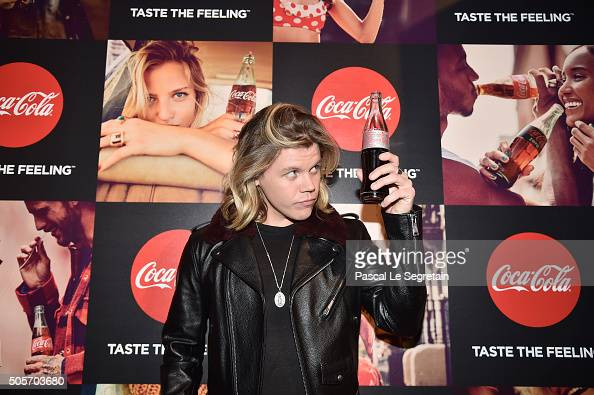 Conrad Sewell attends the the CocaCola Launch of 'One Brand' Strategy 'Taste The Feeling' Creative Campaign at Palais De Tokyo on January 18 2016 in...
