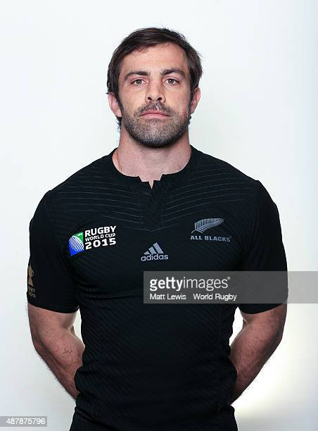Conrad Smith of New Zealand poses for a portrait during the New Zealand Rugby World Cup 2015 squad photo call on September 12 2015 in London England