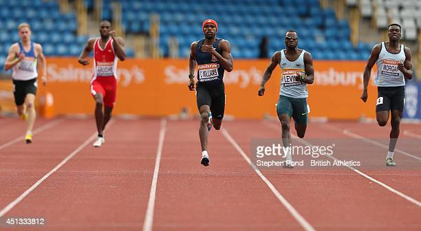 Conrad Williams and Nigel Levine in action in the heats of the Men's 400m event during the Sainsbury's British Athletics Championships at Birmingham...