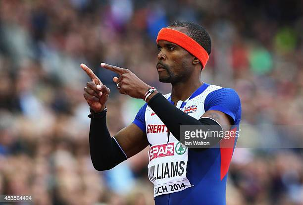 Conrad Williams of Great Britain and Northern Ireland reacts after competing in the Men's 400 metres heats during day two of the 22nd European...