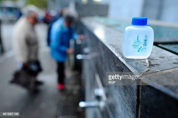 Consacrated water of the city of Lourdes