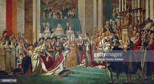 Consecration of the Emperor Napoleon I and Coronation of the Empress Josephine by JacquesLouis David French painter in the Neoclassical style...