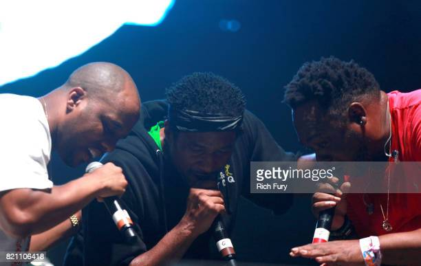 Consequence QTip and Jarobi White of A Tribe Called Quest perform onstage during day 2 of FYF Fest 2017 at Exposition Park on July 22 2017 in Los...