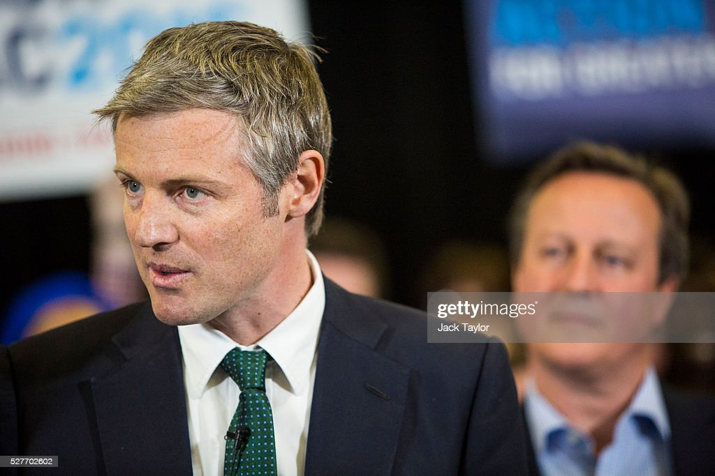 Conservative candidate for Mayor of London, Zac Goldsmith and British Prime Minister David Cameron attend a mayoral campaign rally at Grey Court School in Richmond on May 3, 2016 in London, England. The Prime Minister joined the Conservative Mayoral candidate at Grey Court School on the penultimate day of campaigning. Former pupils of the school include London's Cycling Commissioner, Andrew Gilligan. Londoners go to the polls on Thursday 5th May with the declaration expected later on Friday 6th. The current Mayor of London is the Conservative MP for Henley, Boris Johnson.
