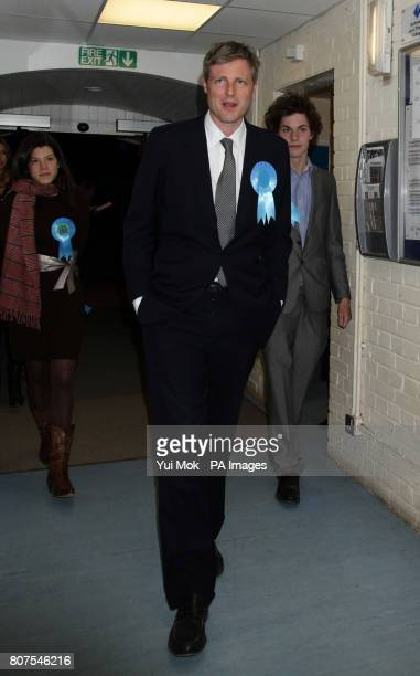 Conservative candidate Zac Goldsmith arrives at the General election count for the London Borough of Richmond upon Thames at Richmond upon Thames...