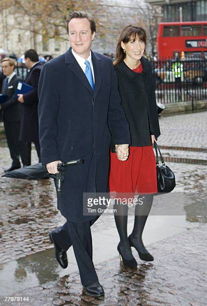 Conservative leader David Cameron and his wife Samantha attend a service of thanksgiving at Westminster Abbey to celebrate the Queen and Prince...