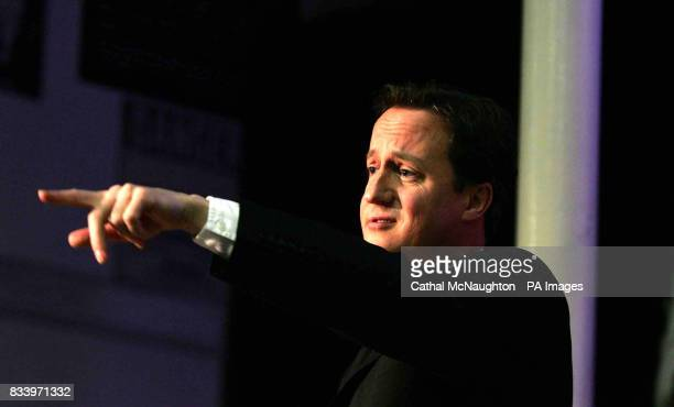 Conservative leader David Cameron launches the Conservative Party's policy paper on decentralised energy entitled 'Power to the People the...