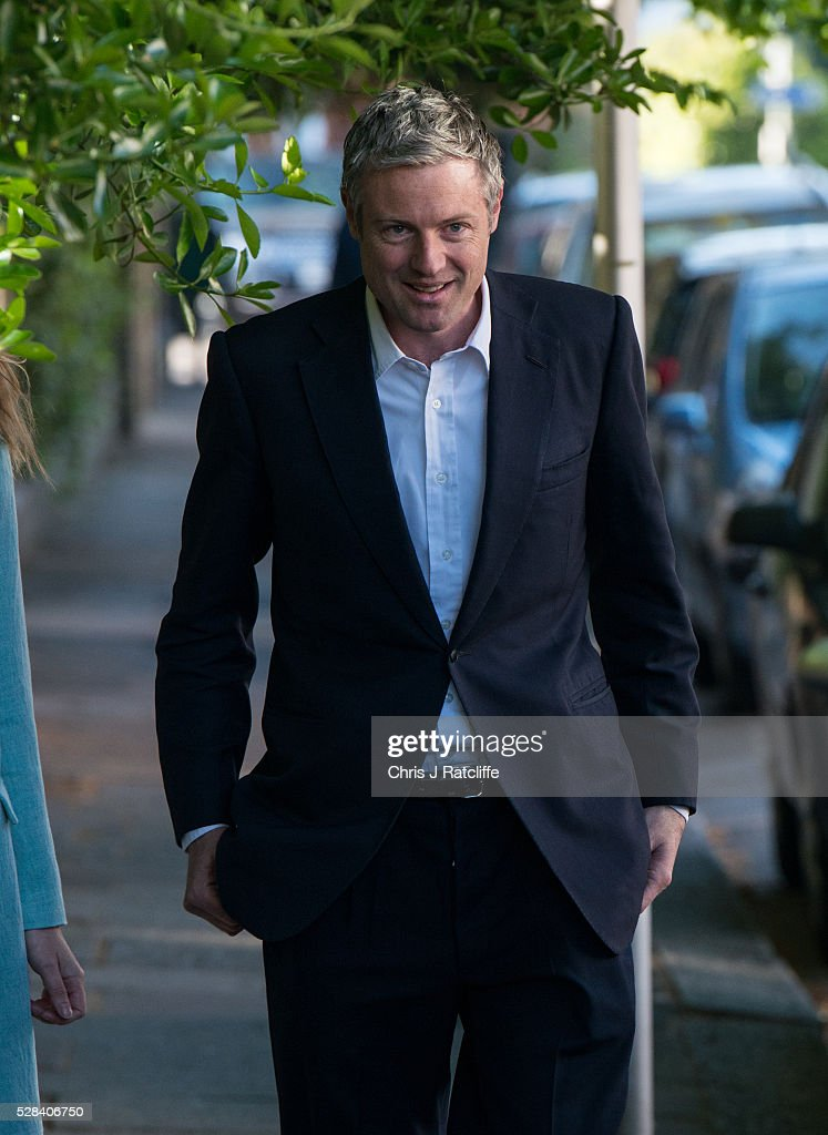 Conservative Mayoral candidate, <a gi-track='captionPersonalityLinkClicked' href=/galleries/search?phrase=Zac+Goldsmith&family=editorial&specificpeople=161321 ng-click='$event.stopPropagation()'>Zac Goldsmith</a>, arrives at a polling station with his wife Alice Miranda Goldsmith at Kitson Hall, Barnes before casting his vote on May 5, 2016 in London, England. This is the fifth mayoral election since the position was created in 2000. Previous London Mayors are Ken Livingstone for Labour and more recently Boris Johnson for the Conservatives. The main candidates for 2016 are Sadiq Khan, Labour, <a gi-track='captionPersonalityLinkClicked' href=/galleries/search?phrase=Zac+Goldsmith&family=editorial&specificpeople=161321 ng-click='$event.stopPropagation()'>Zac Goldsmith</a>, Conservative, Sian Berry, Green, Caroline Pidgeon, Liberal Democrat, George Galloway, Respect, Peter Whittle, UKIP and Sophie Walker, Woman's Equality Party. Results will be declared on Friday 6th May.