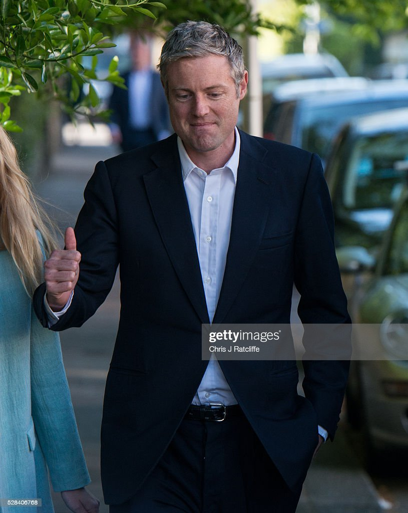 Conservative Mayoral candidate, <a gi-track='captionPersonalityLinkClicked' href=/galleries/search?phrase=Zac+Goldsmith&family=editorial&specificpeople=161321 ng-click='$event.stopPropagation()'>Zac Goldsmith</a>, arrives at a polling station with his wife Alice Miranda Goldsmith at Kitson Hall, Barnes before casting his vote on May 5, 2016 in London, England. This is the fifth mayoral election since the position was created in 2000. Previous London Mayors are Ken Livingstone for Labour and more recently Boris Johnson for the Conservatives. The main candidates for 2016 are Sadiq Khan, Labour, <a gi-track='captionPersonalityLinkClicked' href=/galleries/search?phrase=Zac+Goldsmith&family=editorial&specificpeople=161321 ng-click='$event.stopPropagation()'>Zac Goldsmith</a> , Conservative, Sian Berry, Green, Caroline Pidgeon, Liberal Democrat, George Galloway, Respect, Peter Whittle, UKIP and Sophie Walker, Woman's Equality Party. Results will be declared on Friday 6th May.
