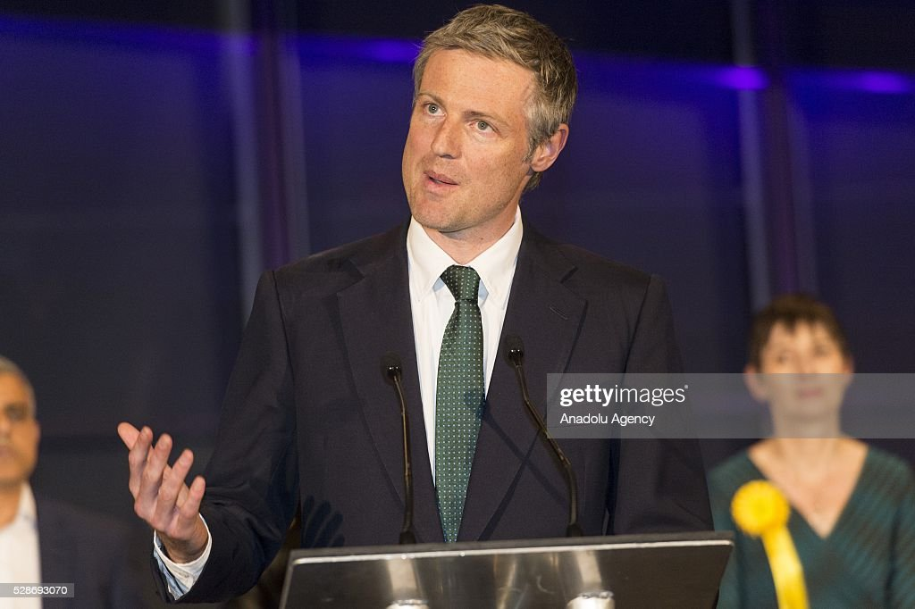 Conservative mayoral candidate Zac Goldsmith delivers a speech after Sadiq Khan is announced as the new mayor of London after votes had been calculated at City Hall in London, Britain, 06 May 2016. Khan becomes London's first muslim mayor.