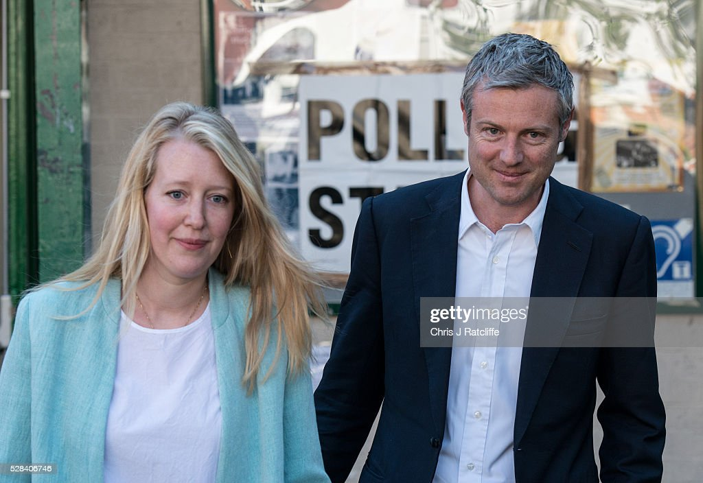 Conservative Mayoral candidate, <a gi-track='captionPersonalityLinkClicked' href=/galleries/search?phrase=Zac+Goldsmith&family=editorial&specificpeople=161321 ng-click='$event.stopPropagation()'>Zac Goldsmith</a>, leaves a polling station with his wife Alice Miranda Goldsmith at Kitson Hall, Barnes after casting his vote on May 5, 2016 in London, England. This is the fifth mayoral election since the position was created in 2000. Previous London Mayors are Ken Livingstone for Labour and more recently Boris Johnson for the Conservatives. The main candidates for 2016 are Sadiq Khan, Labour, <a gi-track='captionPersonalityLinkClicked' href=/galleries/search?phrase=Zac+Goldsmith&family=editorial&specificpeople=161321 ng-click='$event.stopPropagation()'>Zac Goldsmith</a> , Conservative, Sian Berry, Green, Caroline Pidgeon, Liberal Democrat, George Galloway, Respect, Peter Whittle, UKIP and Sophie Walker, Woman's Equality Party. Results will be declared on Friday 6th May.