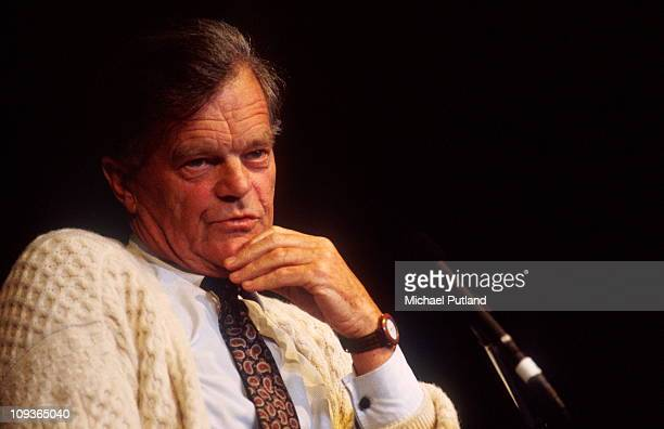 Conservative MP and author Alan Clark at the Hay Festival UK 1994