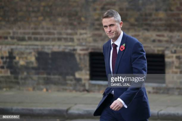 Conservative MP Gavin Williamson walks through Downing Street in central London on November 2 2017 Chief Whip Gavin Williamson has been appointed new...