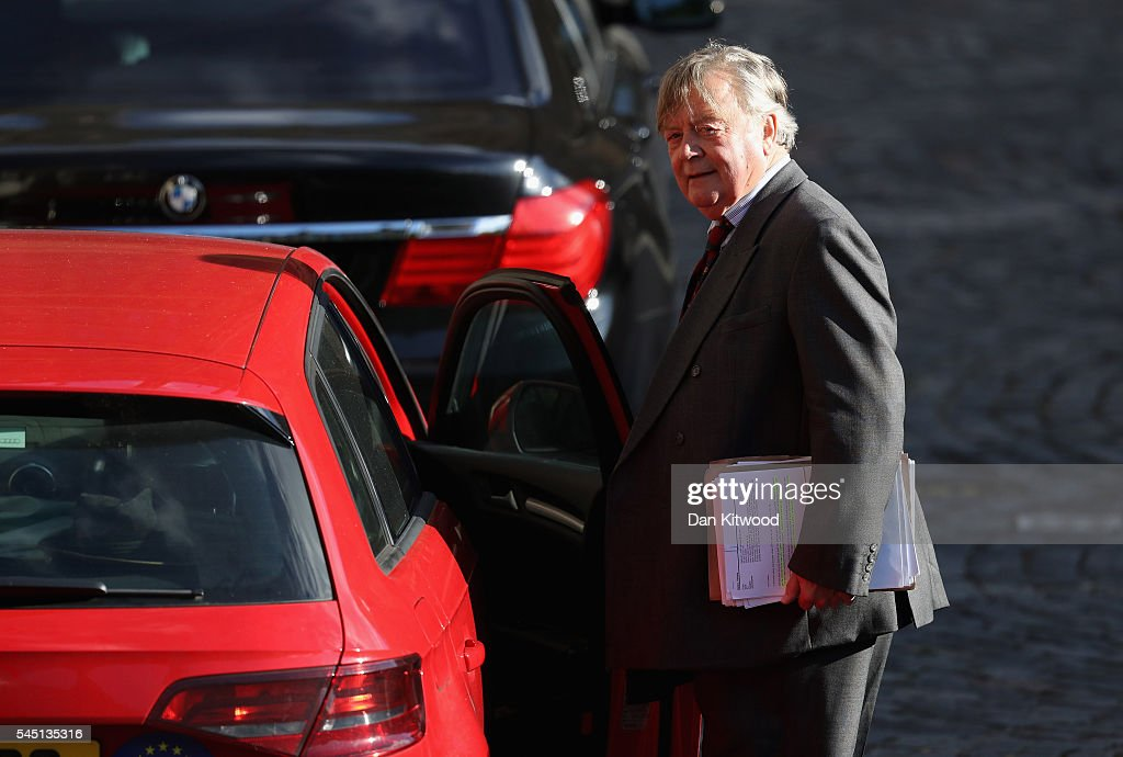 Conservative MP Ken Clarke is pictured as votes are counted for the first round of the Conservative Party Leadership election at Houses of Parliament...