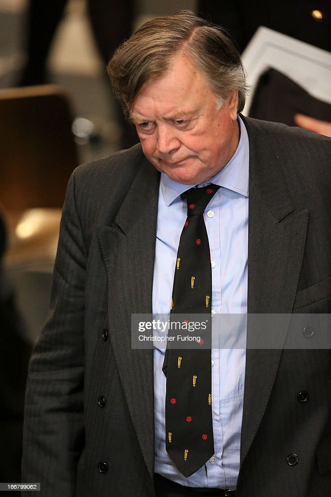 Conservative MP Kenneth Clarke attends the Ceremonial funeral of former British Prime Minister Baroness Thatcher at St Paul's Cathedral on April 17...