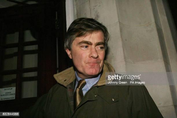 Conservative MP Patrick Mercer arrives back at his central London home