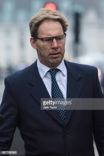 Conservative MP Tobias Ellwood walks towards the Houses of Parliament on March 24 2017 in London England Mr Ellwood was pictured giving first aid to...