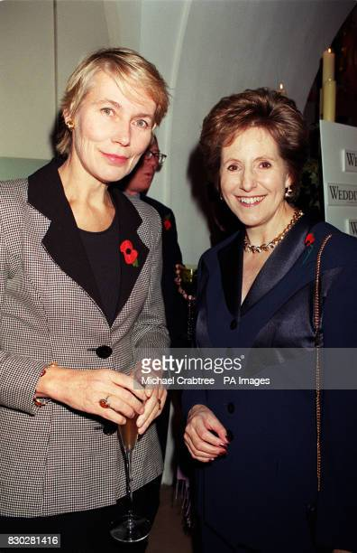 Conservative MP Virginia Bottomley and Dame Norma Major at The Undercroft Banqueting House Whitehall for the launch of Eve Pollard's new Wedding Day...