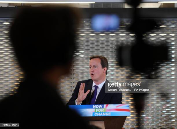 Conservative party leader David Cameron makes a speech at Imperial College in London where he promised to hand people more power over the information...