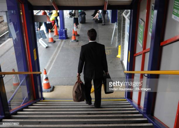 Conservative Party leader David Cameron prepares to board a train as he travels from Oxford to Yorkshire today where he will continue to campaign for...