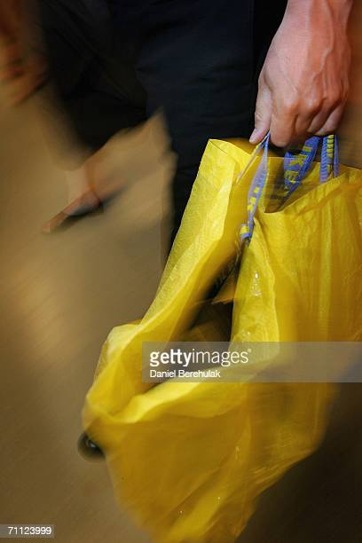 Conservative Party leader David Cameron shops in an Ikea store with his Ikea shopping bag on June 5 2006 in London David Cameron departed on an...