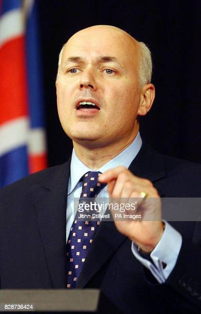 Conservative Party Leader Iain Duncan Smith gives his speech at the CEP in the capital of the Czech Republic Prague * The Conservative leader called...