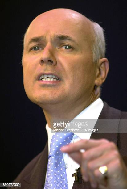 Conservative Party leader Iain Duncan Smith makes his address to the Conservative Party Conference in Bournemouth * 22/12/02 Iain Duncan Smith...