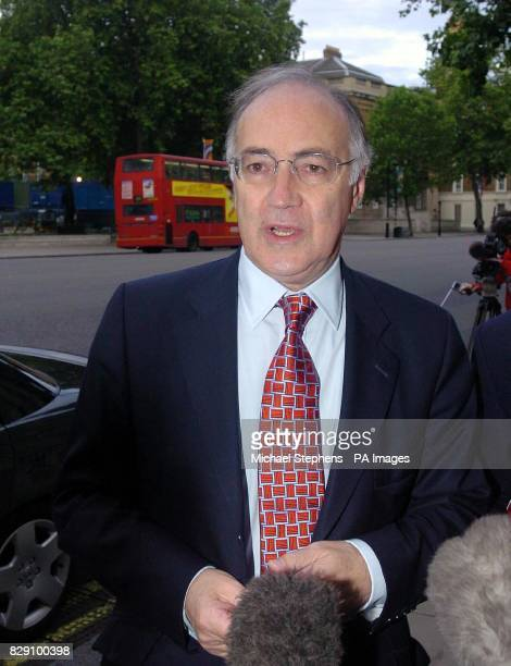 Conservative party leader Michael Howard arriving at the Cabinet Office in London's Whitehall to read Lord Butler's report into intelligence failings...