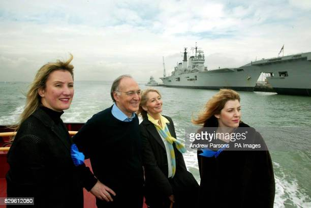 Conservative Party leader Michael Howard goes on a harbour tour of Portsmouth Caroline Dinenage conservative candidate for Portsmouth South Sandra...