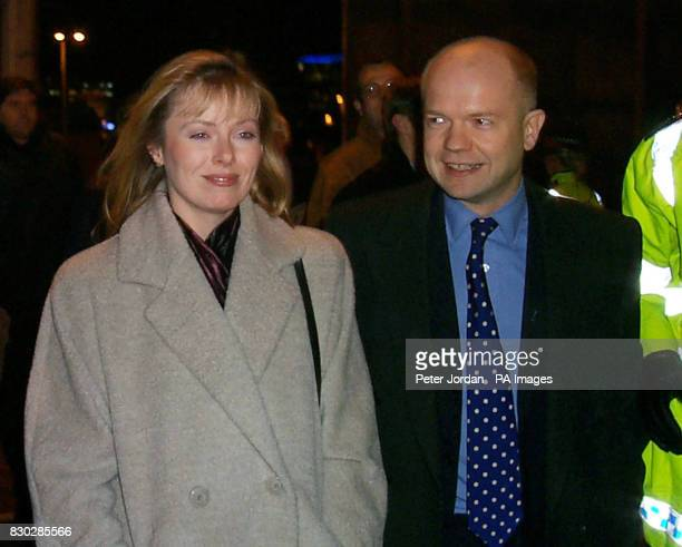 Conservative party leader William Hague and his wife Ffion arrive at Wembley for the second leg of England and Scotland's Euro 2000 play off football...