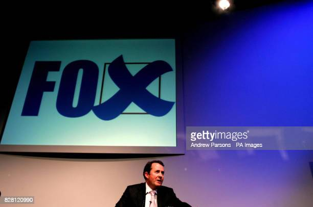 Conservative Party leadership contender Dr Liam Fox delivers his speech at the Centre for Policy Studies thinktank in central London Wednesday...