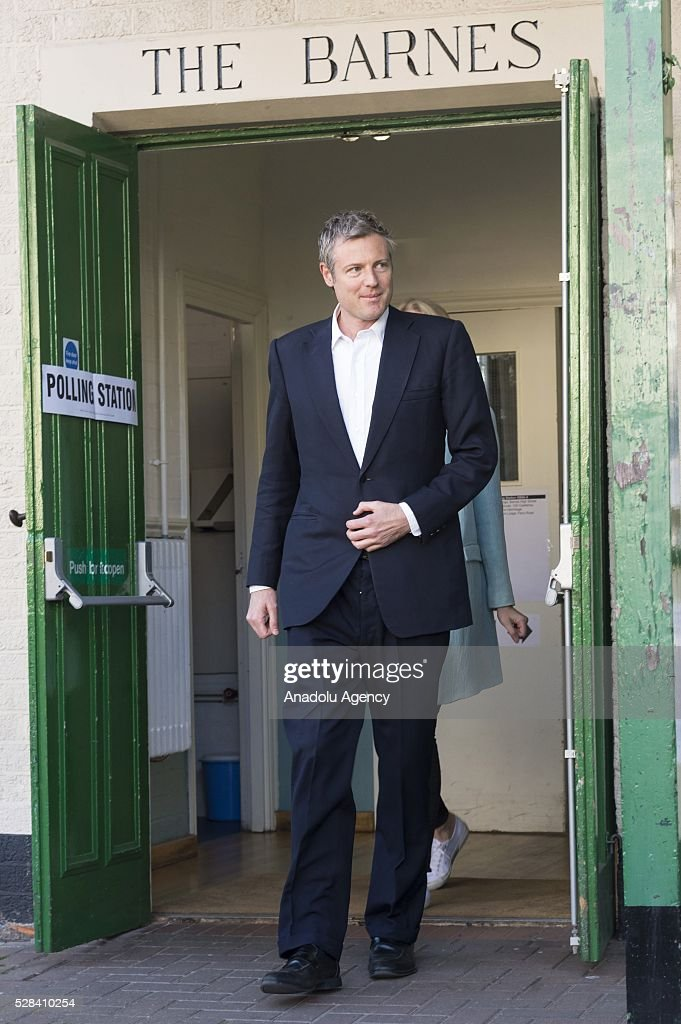 Conservative Party MP Zac Goldsmith leaves the polling station after he casted his votes within London Mayoral Elections in Richmond Park constituency in London, United Kingdom on May 05, 2016.