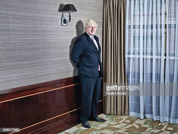 Conservative party politician Boris Johnson is photographed for the Australian Financial Review on September 19 2014 in London England