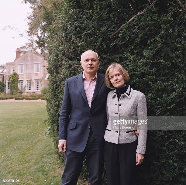 Conservative party politician Iain Duncan Smith is photographed with his wife Betsy for Tatler magazine on October 27 2004 in Swanbourne England