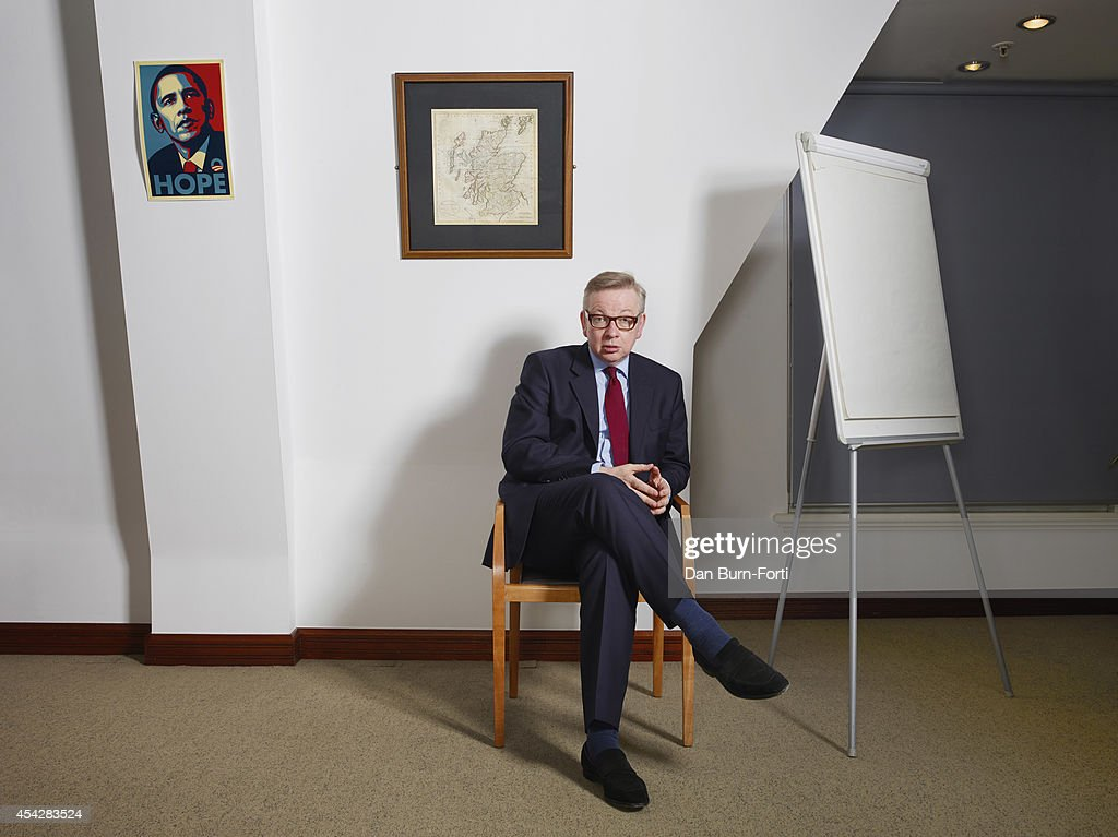UK Conservative party politician, <a gi-track='captionPersonalityLinkClicked' href=/galleries/search?phrase=Michael+Gove&family=editorial&specificpeople=2223709 ng-click='$event.stopPropagation()'>Michael Gove</a> is photographed for the FT Weekend magazine on February 12, 2014 in London, England.