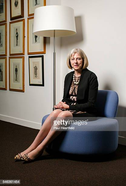 Conservative party politician Teresa May is photographed for House magazine on September 12 2013 in London England