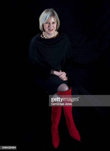 Conservative party politician Teresa May is photographed on March 4 2010 in London England