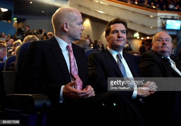 Conservative Party Shadow Foreign Secretary William Hague Shadow Chancellor George Osborne and Shadow Cabinet as Communities and Local Government...