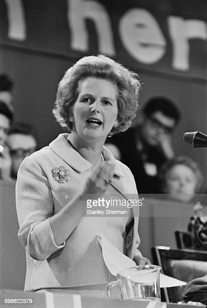 Conservative politician and future Prime Minister Margaret Thatcher speaking at the Conservative Party conference in Brighton UK 21st October 1967
