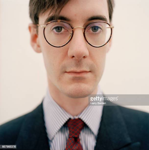 Conservative politician Jacob ReesMogg is photographed for Night and Day magazine with his nanny Veronica Crook on January 4 2000 in London England