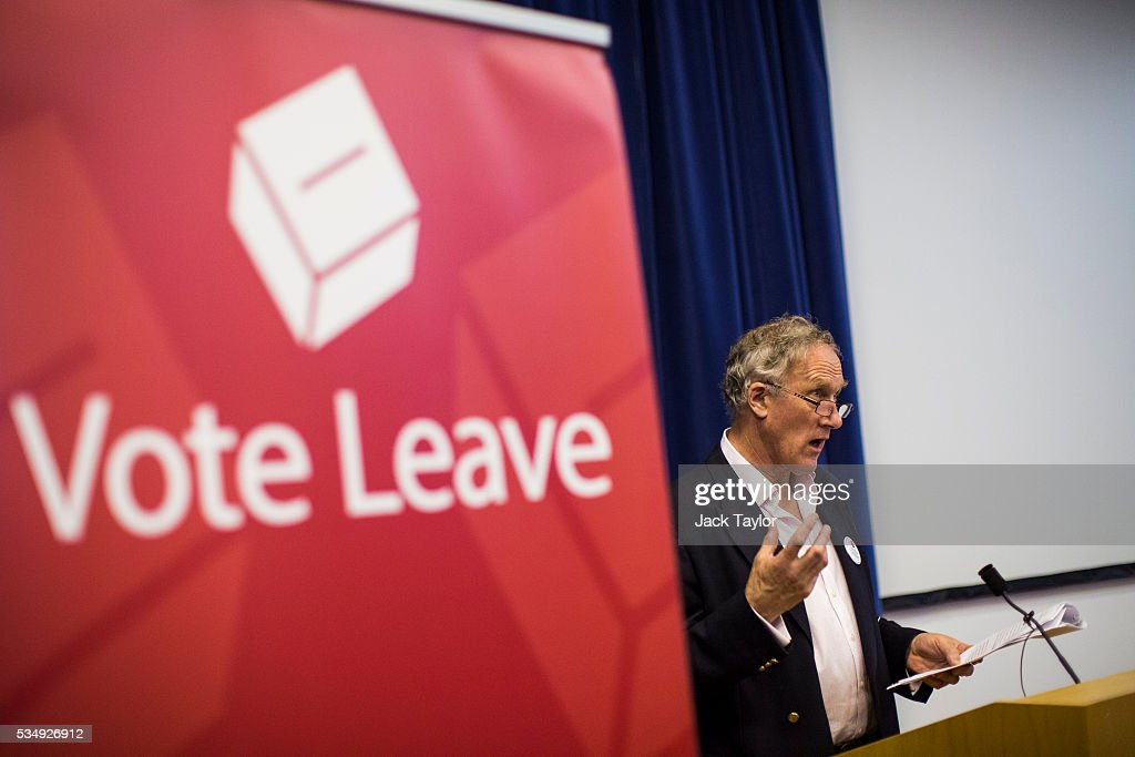 Conservative politician Julian Brazier delivers a speech at Kent County Council on May 28, 2016 in Maidstone, England. Prominent members of the Conservative Party are campaigning on behalf of Vote Leave in Kent today, ahead of the EU referendum on June 23rd.